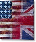 American British Flag Metal Print by Garry Gay