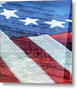 American Flag Metal Print by Christina Rollo