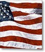 American Flag Metal Print by John Zaccheo