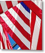American Flags Metal Print by Nathan Griffith