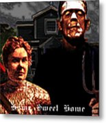 American Gothic Resurrection Home Sweet Home 20130715 Square Metal Print by Wingsdomain Art and Photography