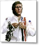 American Icon  Steve Mcqueen Metal Print by Iconic Images Art Gallery David Pucciarelli