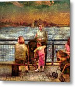 Americana - People - Jewish Families Metal Print by Mike Savad