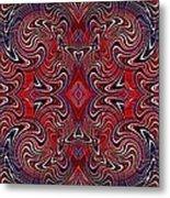 Americana Swirl Banner 1 Metal Print by Sarah Loft