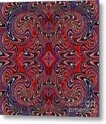 Americana Swirl Design 1 Metal Print by Sarah Loft