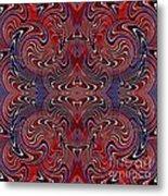 Americana Swirl Design 2 Metal Print by Sarah Loft