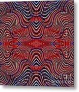 Americana Swirl Design 9 Metal Print by Sarah Loft