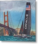 Americas Cup By The Golden Gate Metal Print by James Lopez