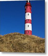 Amrum Lighthouse Metal Print by Angela Doelling AD DESIGN Photo and PhotoArt