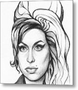 Amy Winehouse Metal Print by Olga Shvartsur