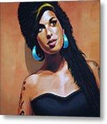 Amy Winehouse Metal Print by Paul Meijering