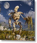 An Advanced Robot On An Exploration Metal Print by Stocktrek Images