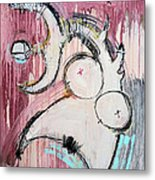 An Allegory Of Things Unknown 7 Metal Print by Mark M  Mellon