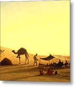 An Arab Encampment  Metal Print by Charles Theodore Frere