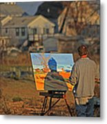 An Artist At Work Metal Print by Karol Livote