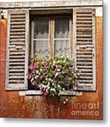 An Old French Window Metal Print by Olivier Le Queinec