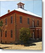 An Old School In White Oaks New Mexico Metal Print by Jeff Swan