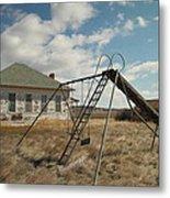 An Old School Near Miles City Montana Metal Print by Jeff Swan