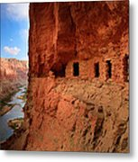 Anasazi Granaries Metal Print by Inge Johnsson