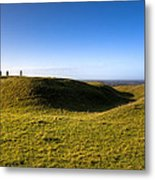 Ancient Hill Of Tara In The Winter Sun Metal Print by Mark Tisdale