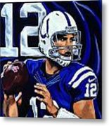 Andrew Luck Metal Print by Chris Eckley