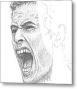 Andy Murray Sketch Metal Print by Conor OBrien