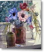 Anemones Metal Print by Julia Rowntree