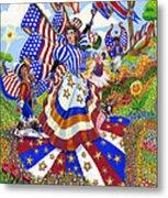 Angel Of American Patriotism Metal Print by Jacquelin Vanderwood