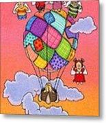 Angels With Hot Air Balloon Metal Print by Sarah Batalka