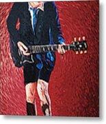 Angus Young Metal Print by Taylan Soyturk