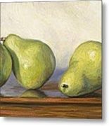 Anjou Pears Metal Print by Lucie Bilodeau