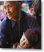 Ann Tribal Grandmother - Kengtung Burma Metal Print by Craig Lovell