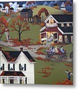 Annual Barn Dance And Hayride Metal Print by Catherine Holman