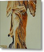 Another Perspective Of The Winged Lady Of Samothrace  Metal Print by Geeta Biswas