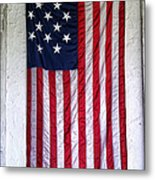 Antique American Flag Metal Print by Olivier Le Queinec