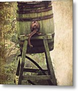 Antique Butter Churn Metal Print by Linsey Williams