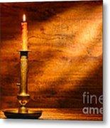 Antique Candlestick Metal Print by Olivier Le Queinec