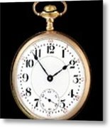Antique Gold Pocketwatch Metal Print by Jim Hughes