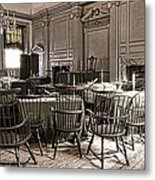 Antique Independence Hall Metal Print by Olivier Le Queinec