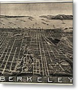 Antique Map Of Berkeley California By Charles Green - Circa 1909 Metal Print by Blue Monocle