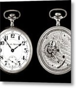 Antique Pocketwatch Metal Print by Jim Hughes