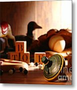 Antique Spinning Top Metal Print by Olivier Le Queinec