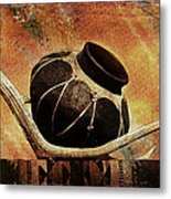 Antler And Olla Metal Print by Karen Slagle