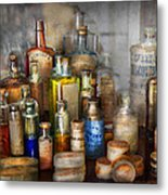 Apothecary - For All Your Aches And Pains  Metal Print by Mike Savad
