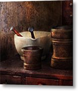 Apothecary - Pick A Pestle  Metal Print by Mike Savad