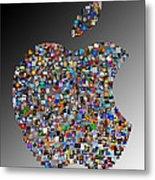 Apple Mosaic On Gradient Metal Print by Yury Malkov