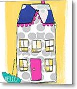 April Showers House Metal Print by Linda Woods