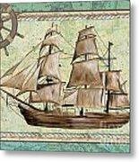 Aqua Maritime 1 Metal Print by Debbie DeWitt
