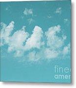 Aqua Sky Meditation Metal Print by Irina Wardas