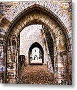 Arches Of Valentre Bridge In Cahors France Metal Print by Elena Elisseeva